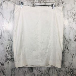 The Limited White Pencil Skirt